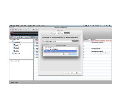 DSS Player for MAC, Olympus, Transcription Software